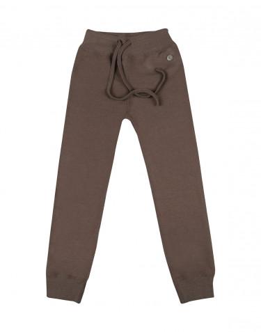 Pantalon pour enfant, en tissu éponge de laine Brun fudge