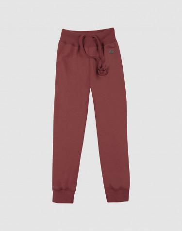 Pantalon pour enfant, en tissu éponge de laine Rouge