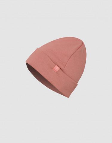 Bonnet pour bébé en tissu éponge de laine rose foncé