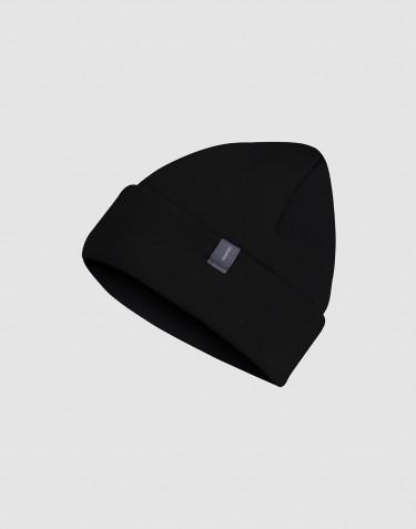 Bonnet en tissu éponge de laine Noir