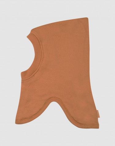 Cagoule en tissu éponge de laine pour enfant caramel