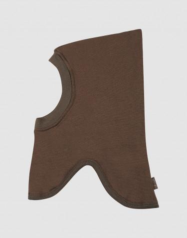 Cagoule en tissu éponge de laine pour enfant chocolat noir
