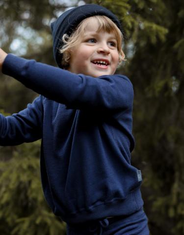 Sweat-shirt en tissu éponge de laine mérinos pour enfant