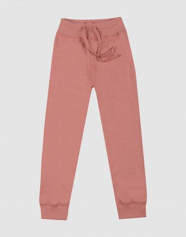 Pantalon en tissu éponge de laine pour enfant rose foncé