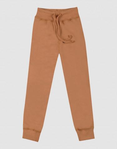 Pantalon en tissu éponge de laine pour enfant caramel