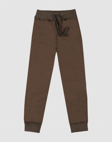 Pantalon en tissu éponge de laine pour enfant chocolat noir