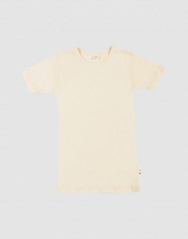 T-shirt en laine mérinos et soie pour enfant