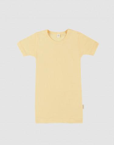 T-shirt pour enfant en laine bio et soie Doré