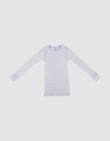 T-shirt à manches longues en laine mérinos et soie pour enfant