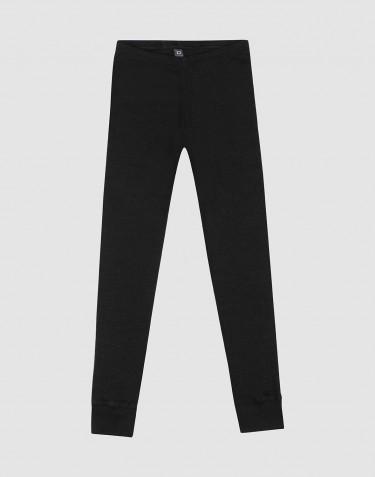 Legging pour enfant en laine et soie bio - noir
