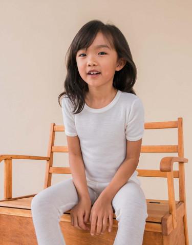 Tee-shirt pour enfant, en laine mérinos Naturel