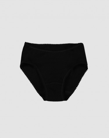 Culotte pour fille, en laine mérinos Noir