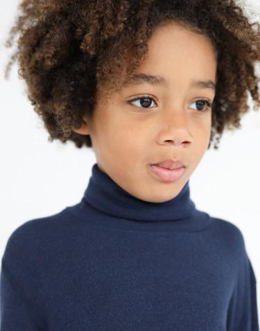 T-shirt à col roulé en laine mérinos pour enfant