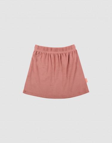 Jupe en laine mérinos pour enfant rose foncé