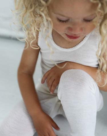 Legging pour enfant, en laine mérinos Naturel