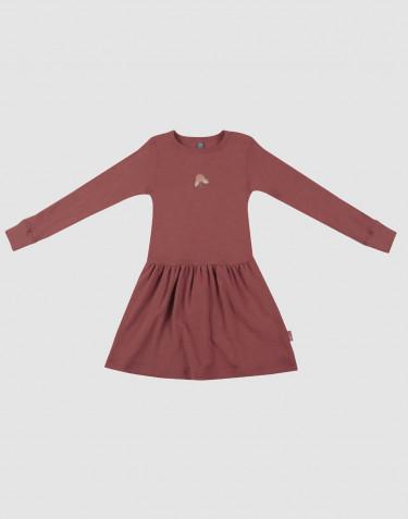 Robe en laine pour enfant Rouge