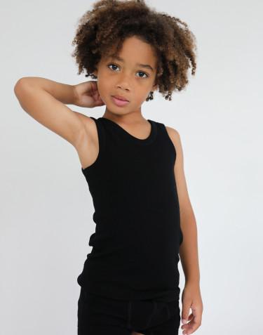 Sous-vêtement pour enfant - laine mérinos bio Noir