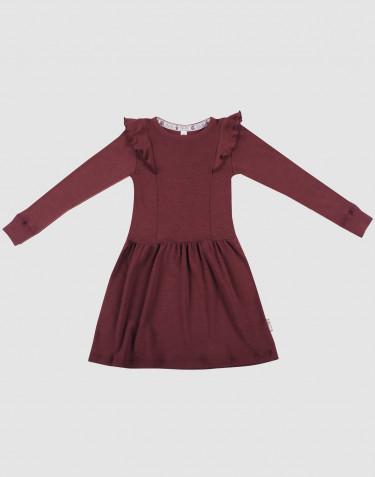 Robe en laine pour enfant - laine mérinos bio rouge noël