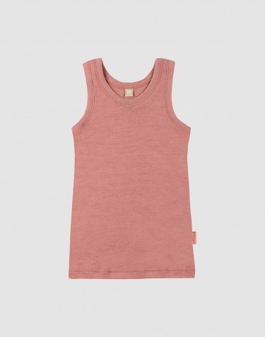 Débardeur en laine pour enfant rose foncé