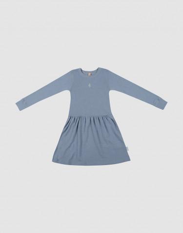 Robe en laine pour enfant bleu