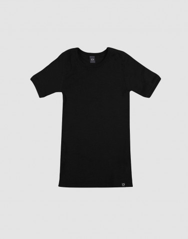 Tee-shirt pour enfant - laine mérinos bio Noir