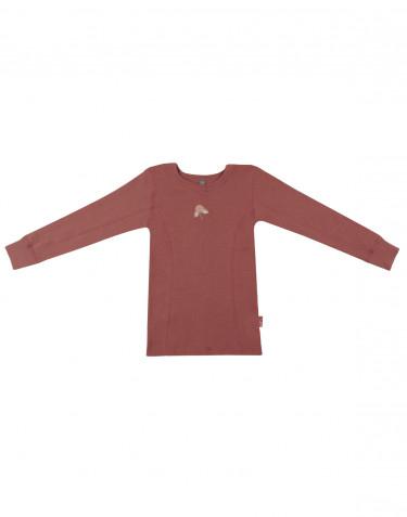 Tricot de peau à manches longues pour enfant, en laine rouge