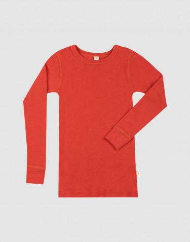 T-shirt à manches longues en laine mérinos pour enfant