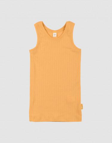Sous-vêtement pour enfant, en laine à côtes larges jaune