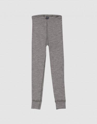 Legging pour enfant, en laine à côtes larges Mélange de gris
