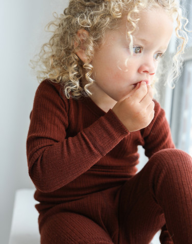 T-shirt à manches longues pour enfant en laine mérinos