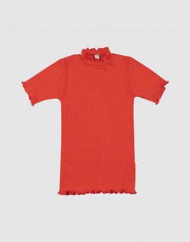 T-shirt à volants pour enfant en laine mérinos