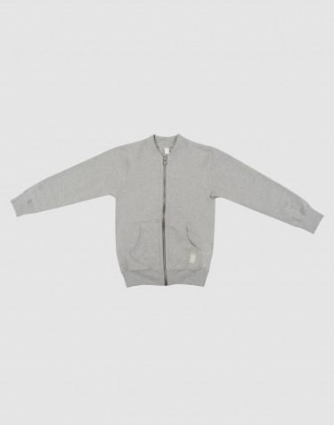 Sweat-shirt pour enfant, avec fermeture éclair Mélange de gris