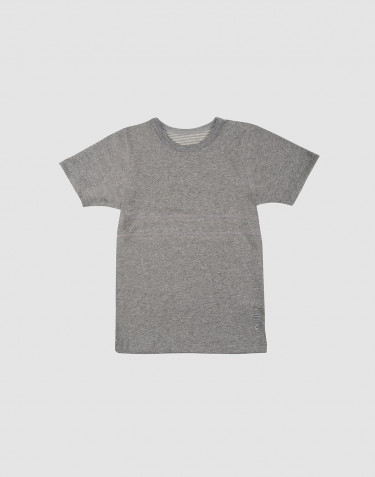 Tee-shirt pour enfant, en coton bio Mélange de gris