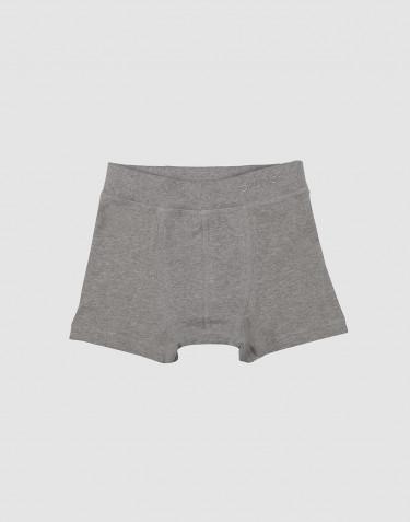 Boxer pour garçon, en coton bio Mélange de gris