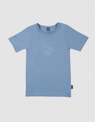 Tee-shirt pour enfant, avec impression en coton Bleu
