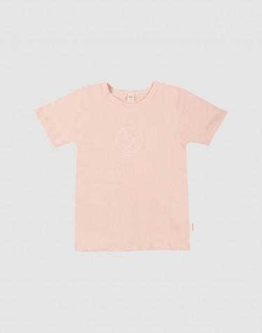 Tee-shirt pour enfant, avec impression en coton Rose