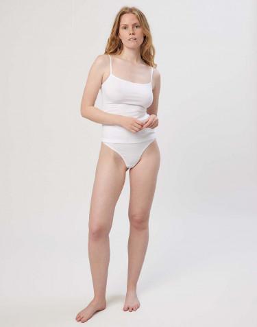 String à taille haute en coton pour femme Blanc