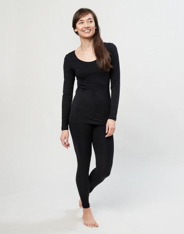 Legging en coton pour femme Noir