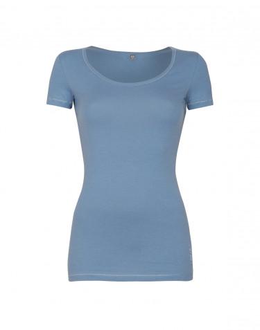 Tee-shirt en coton pour femme Bleu