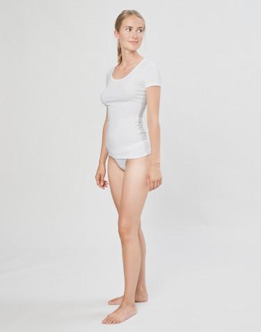 Culotte Mini DILLING en coton, pour femme Blanc