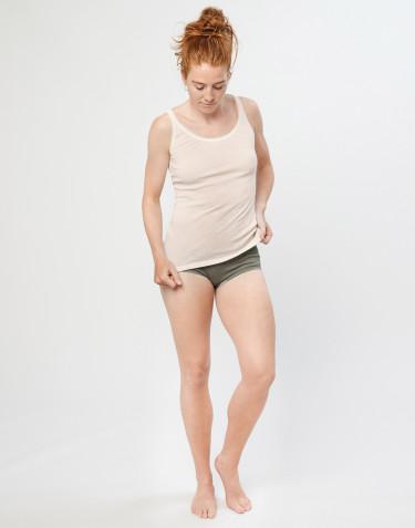 Culotte Midi en laine mérinos côtelée, pour femme Vert olive