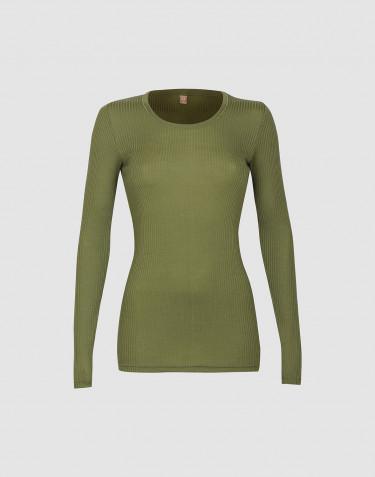 T-shirt à manches longues en laine mérinos pour femme