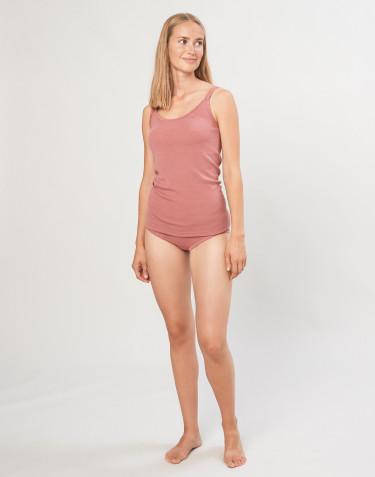 Culotte midi pour femme en laine mérinos rose