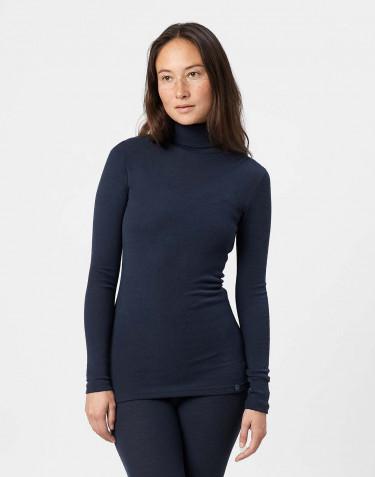 T-shirt à col roulé en laine mérinos pour femme