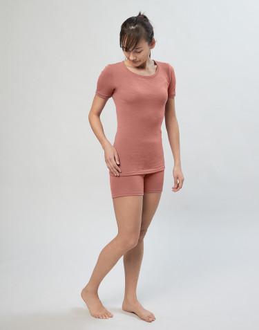 Panty en laine mérinos bio pour femme rose