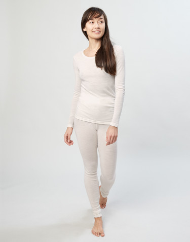 Legging en laine mérinos pour femme Naturel