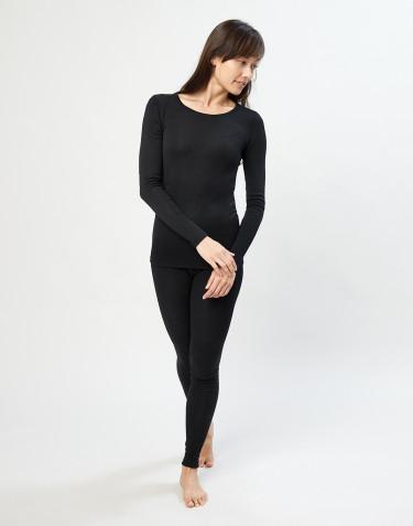 Legging en laine mérinos pour femme Noir