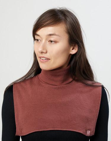 Cache-cou pour femme en laine mérinos bio rouge noël