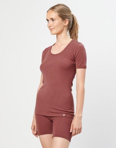 Tee-shirt en laine mérinos pour femme Rouge