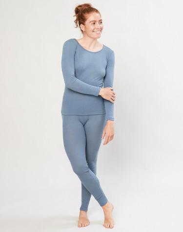 Legging en laine mérinos pour femme bleu